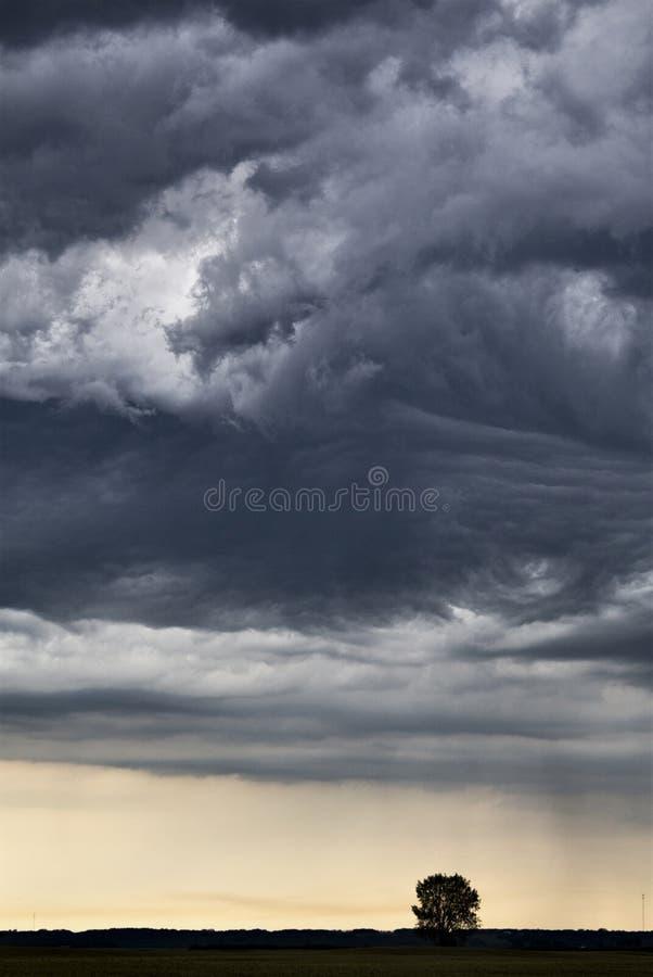Ουρανός λιβαδιών σύννεφων θύελλας στοκ εικόνες