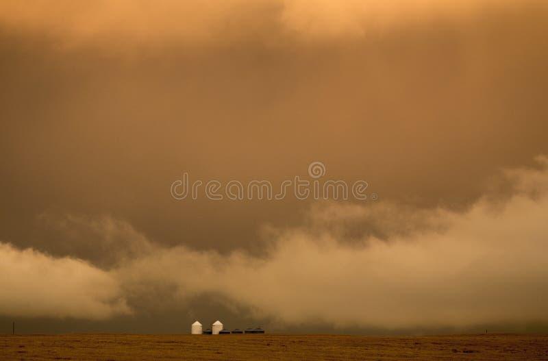 Ουρανός λιβαδιών σύννεφων θύελλας στοκ εικόνα με δικαίωμα ελεύθερης χρήσης