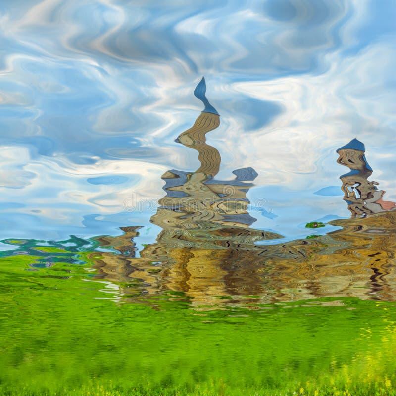 Download Ουρανός και οικοδόμηση που απεικονίζονται στο νερό Στοκ Εικόνες - εικόνα από ουρανοί, απεικονισμένος: 62706618