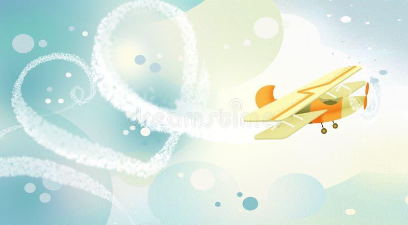ουρανός καρδιών αέρα απεικόνιση αποθεμάτων
