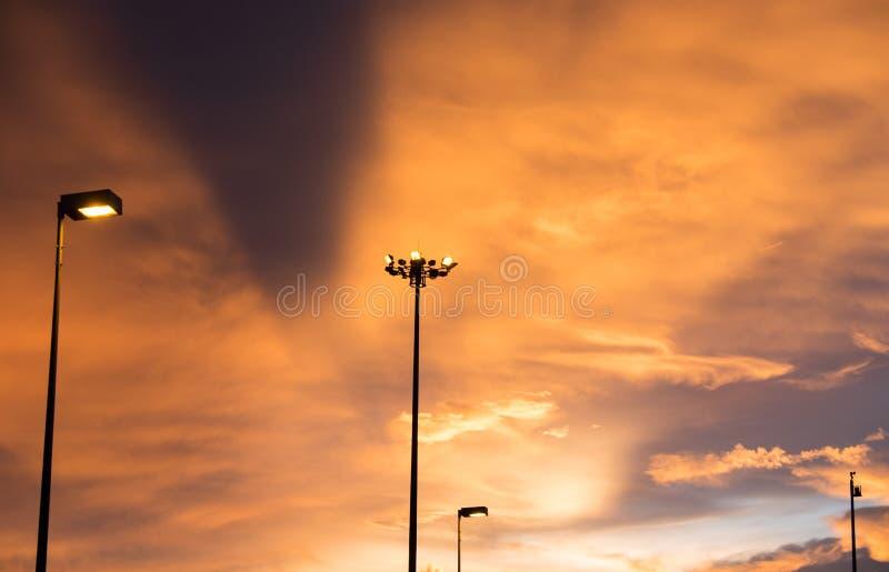 Ουρανός μετά από το ηλιοβασίλεμα στοκ εικόνα