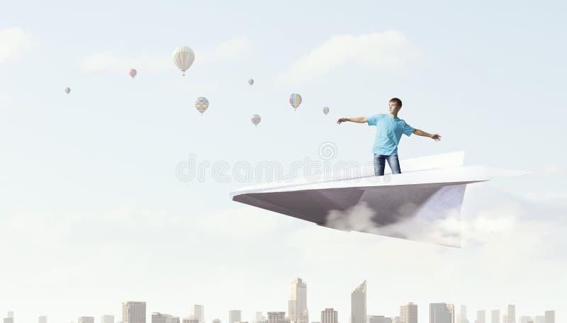 Ουρανός σερφ τύπων Hipster Μικτά μέσα στοκ φωτογραφία με δικαίωμα ελεύθερης χρήσης