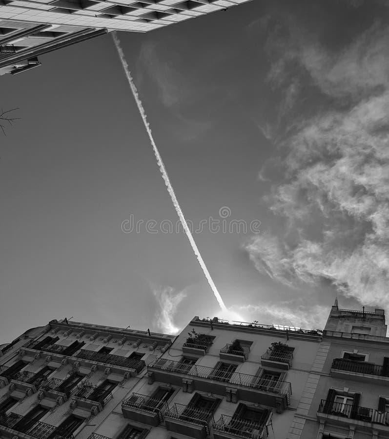 Ουρανός στη Βαρκελώνη στοκ εικόνες