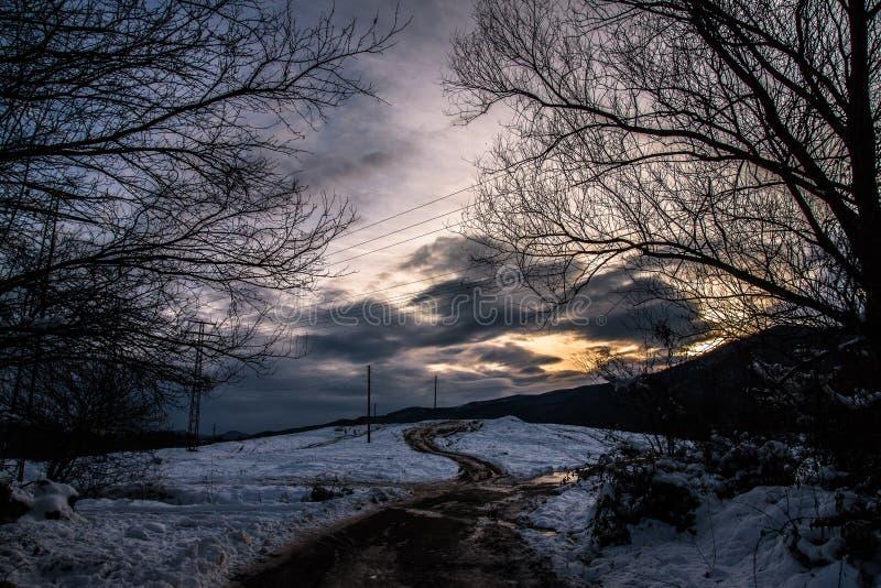 ουρανός στον τρόπο στοκ φωτογραφία