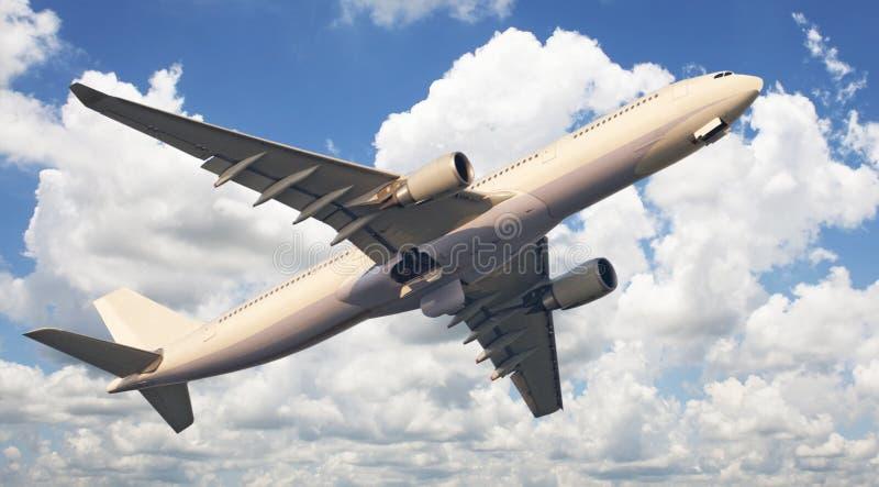 ουρανός ταξιδιών αεροπλά&n στοκ εικόνες