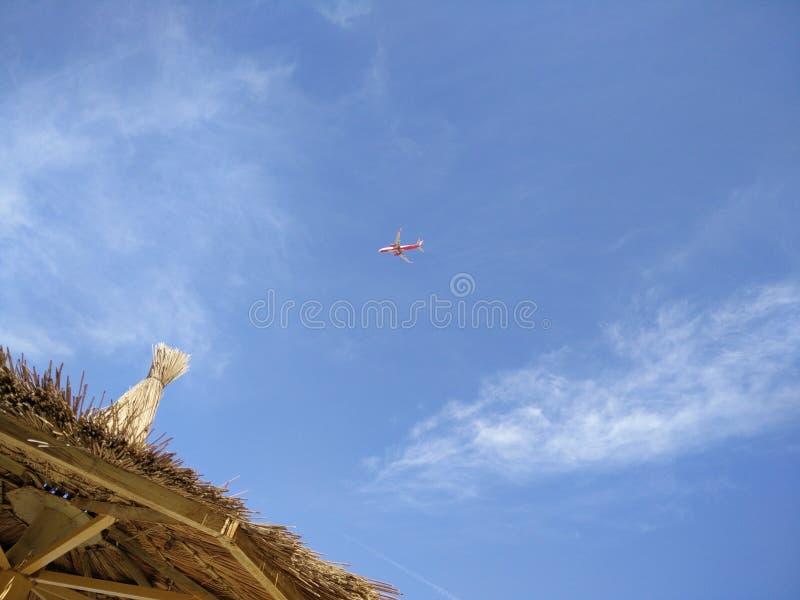 Ουρανός ταξιδιού Holyday airplain στοκ φωτογραφίες
