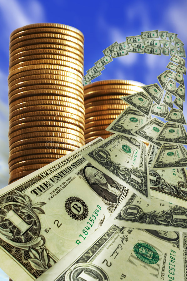 ουρανός χρημάτων στοκ φωτογραφίες με δικαίωμα ελεύθερης χρήσης