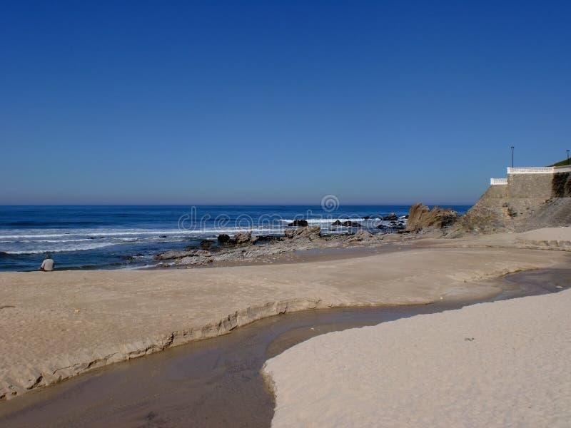 Ουρανός, ωκεανός, άμμος και κολπίσκος στοκ φωτογραφία με δικαίωμα ελεύθερης χρήσης