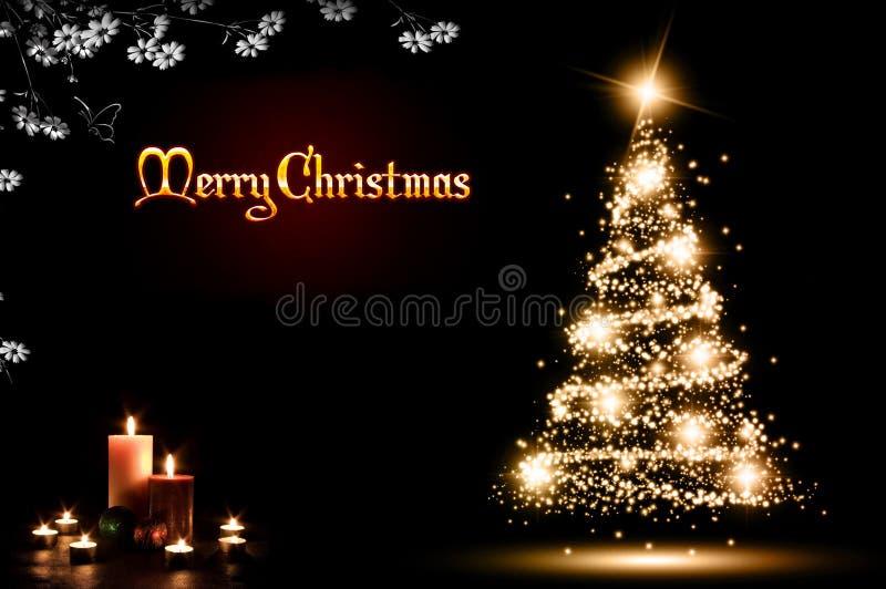ουρανός santa του Klaus παγετού Χριστουγέννων καρτών τσαντών στοκ φωτογραφίες