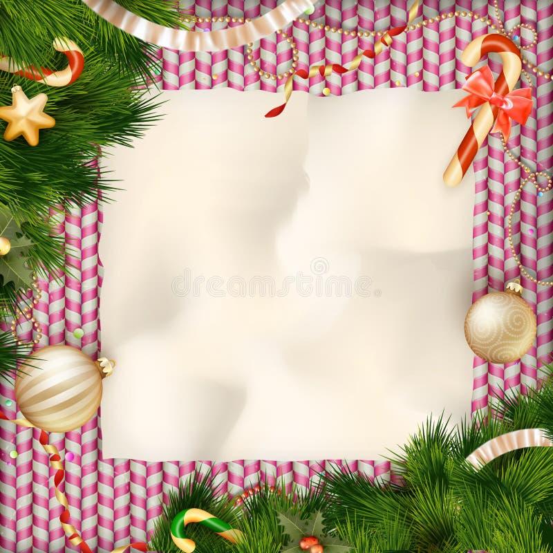 ουρανός santa του Klaus παγετού Χριστουγέννων καρτών τσαντών 10 eps απεικόνιση αποθεμάτων