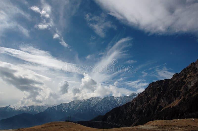 Ουρανός Tibetian στοκ εικόνα