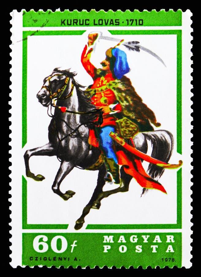 Ουσάρος Kuruc, 1710, ιππείς serie, circa 1978 στοκ φωτογραφία με δικαίωμα ελεύθερης χρήσης