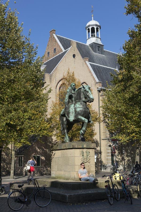 Ουτρέχτη, Κάτω Χώρες - 27 Σεπτεμβρίου 2018: Άγαλμα χαλκού του sain στοκ φωτογραφία με δικαίωμα ελεύθερης χρήσης
