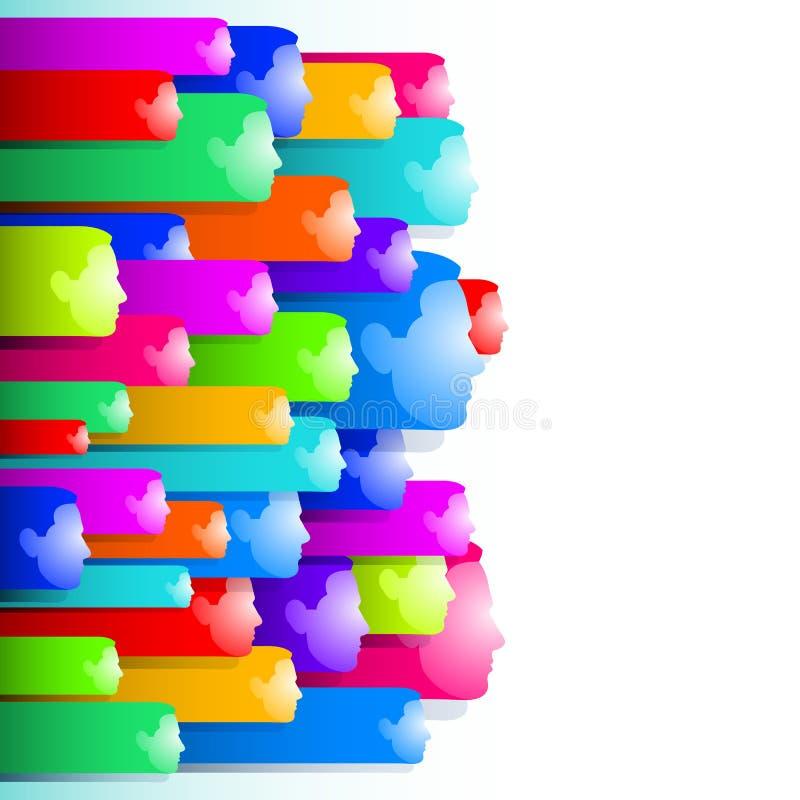 Ουδέτερο άτομο συγκίνησης προσώπου εμβλημάτων αυτοκόλλητων ετικεττών αριθμού διανυσματική απεικόνιση