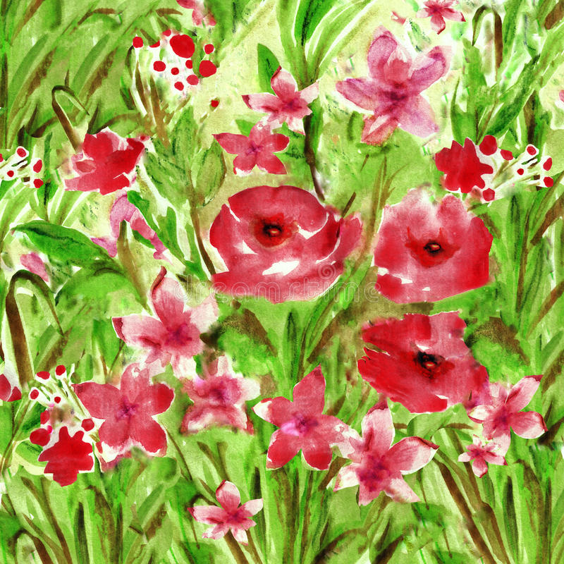 λουλούδια έργων ζωγραφικής εντύπωσης ελεύθερη απεικόνιση δικαιώματος