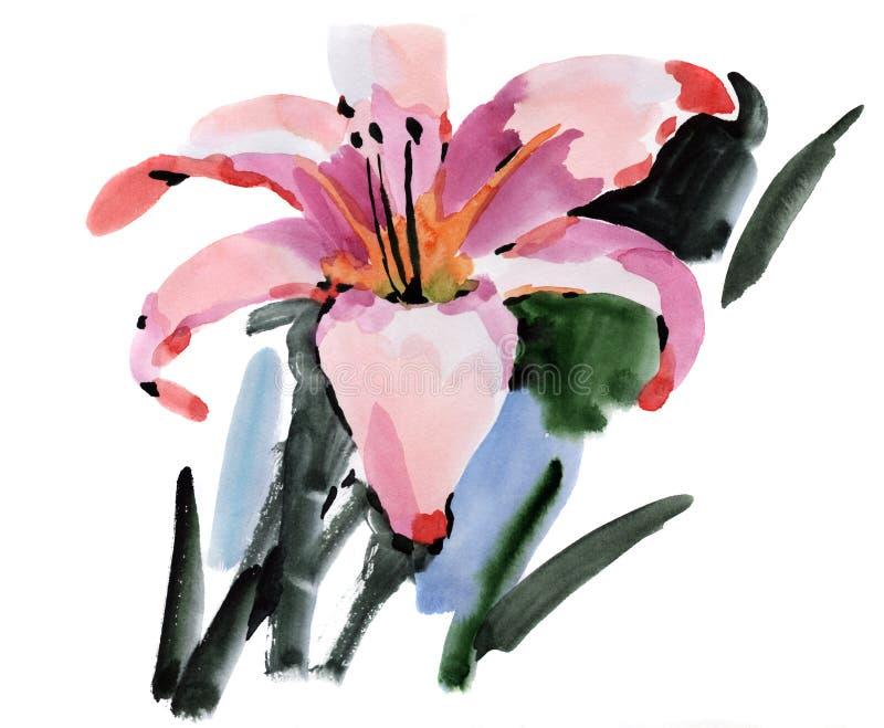 λουλούδια ι συντακτών watercolor εικόνων ζωγραφικής απεικόνιση αποθεμάτων