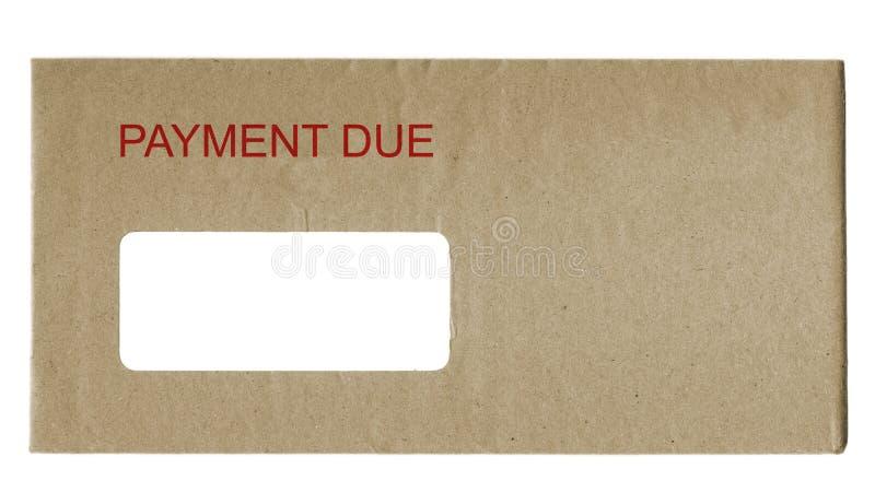 οφειλόμενη πληρωμή στοκ φωτογραφία με δικαίωμα ελεύθερης χρήσης