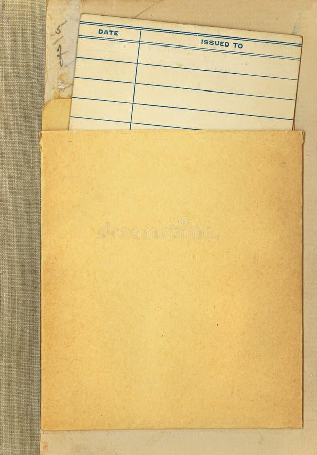 οφειλόμενος τρύγος βιβλιοθηκών ημερομηνίας καρτών βιβλίων στοκ φωτογραφίες