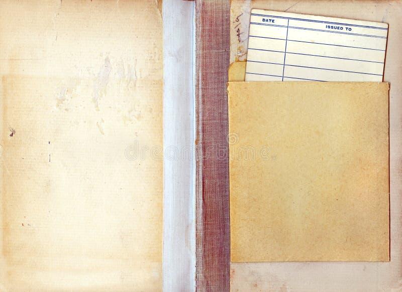 οφειλόμενος τρύγος βιβλιοθηκών ημερομηνίας καρτών βιβλίων στοκ φωτογραφία