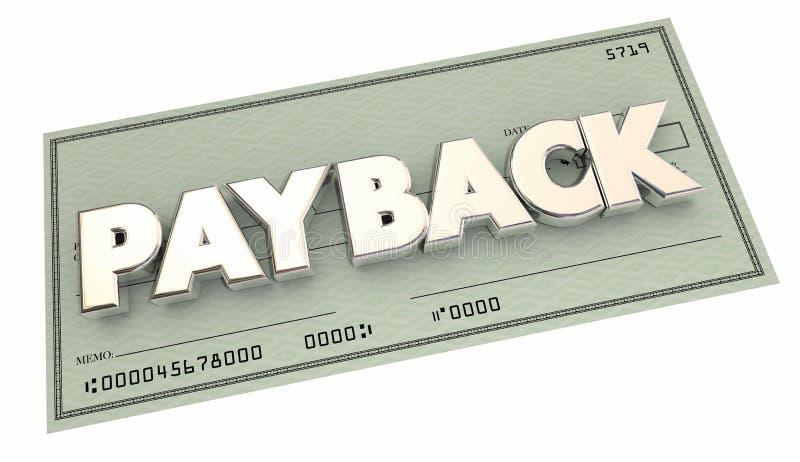 Οφειμένος πληρωμής επιστροφής έλεγχος επιστροφής χρήματα απεικόνιση αποθεμάτων