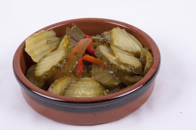 δοχείο της σουηδικής σαλάτας αγγουριών στοκ φωτογραφία με δικαίωμα ελεύθερης χρήσης