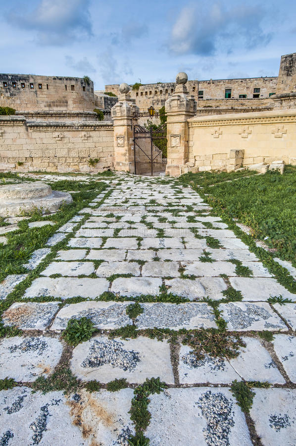 Οχυρό Άγιος Elmo σε Valletta, Μάλτα στοκ εικόνες