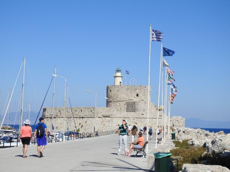 Οχυρό Άγιου Βασίλη Ρόδος Ελλάδα στοκ εικόνες