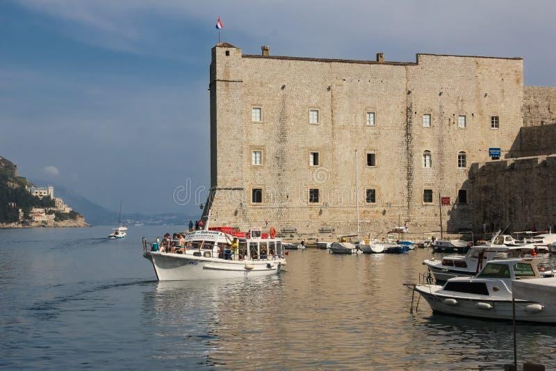 Οχυρό Αγίου John και παλαιός λιμένας dubrovnik Κροατία στοκ εικόνα με δικαίωμα ελεύθερης χρήσης