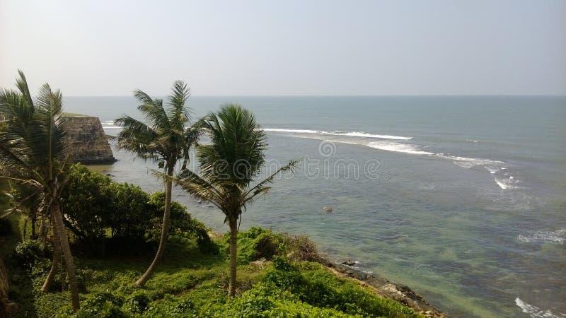 Οχυρό αμυχής με τη ρηχή θάλασσα στοκ εικόνα με δικαίωμα ελεύθερης χρήσης
