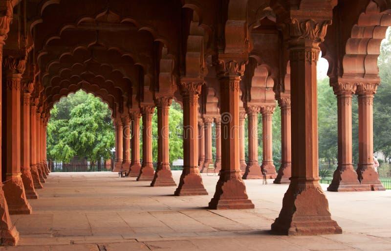 οχυρό μέσα στο κόκκινο παλατιών στοκ εικόνες με δικαίωμα ελεύθερης χρήσης