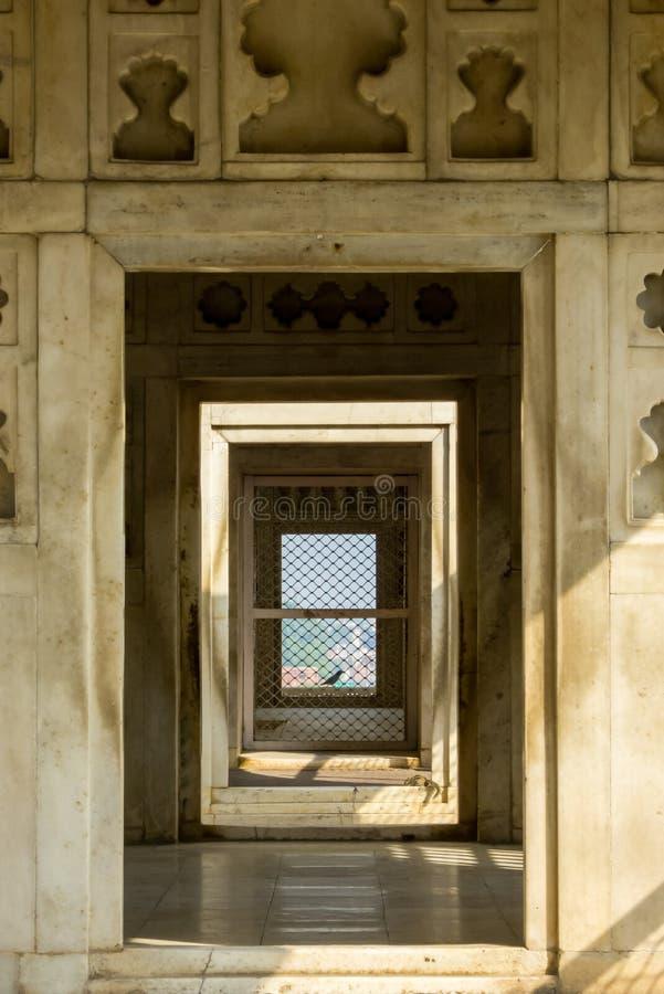 Οχυρό Agra σε Agra Ινδία κοντά σε Taj Mahal στοκ εικόνα