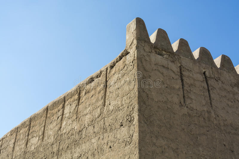 Οχυρό Al Fahidi τοίχων στοκ φωτογραφία