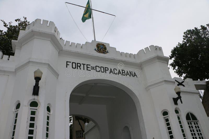 Οχυρό Copacaban, Ρίο ντε Τζανέιρο Βραζιλία στοκ φωτογραφία με δικαίωμα ελεύθερης χρήσης
