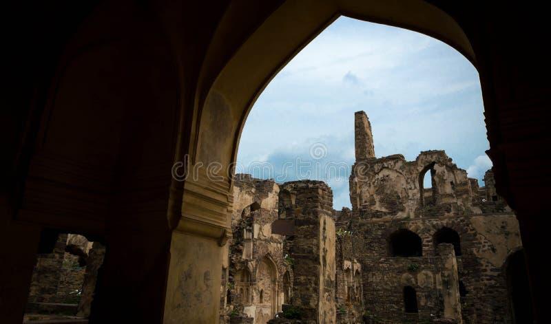 Οχυρό Golconda, Hyderabad - Ινδία στοκ εικόνες