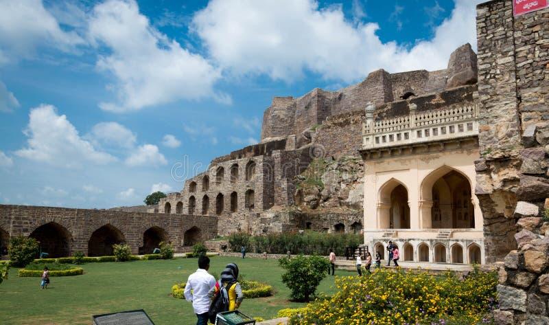 Οχυρό Golconda, Hyderabad - Ινδία στοκ φωτογραφία με δικαίωμα ελεύθερης χρήσης