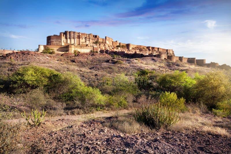 Οχυρό Mehrangarh στην Ινδία στοκ εικόνα με δικαίωμα ελεύθερης χρήσης