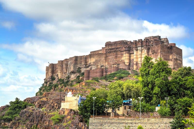 Οχυρό Mehrangarh στο Jodhpur, Ινδία στοκ φωτογραφία με δικαίωμα ελεύθερης χρήσης