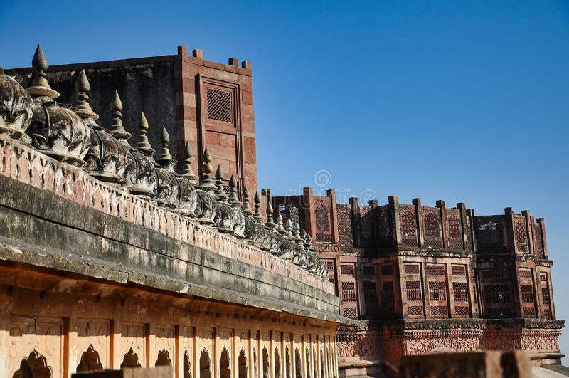 Οχυρό Mehrangarh στο Jodhpur, Rajasthan, ένα από τα μεγαλύτερα οχυρά στην Ινδία στοκ φωτογραφίες με δικαίωμα ελεύθερης χρήσης