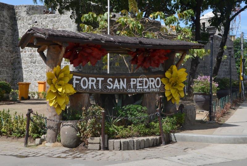 Οχυρό SAN Pedro στο Κεμπού, Φιλιππίνες στοκ εικόνες
