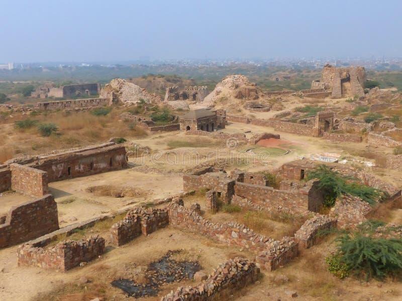 Οχυρό Tughlaqabad στο Δελχί, Ινδία στοκ εικόνα με δικαίωμα ελεύθερης χρήσης