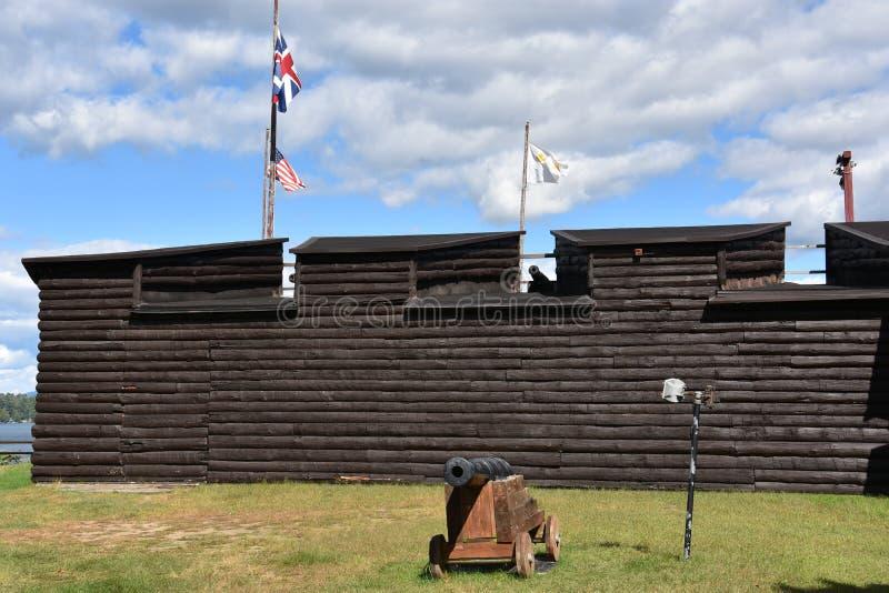 Οχυρό William Henry στη λίμνη George, Νέα Υόρκη στοκ εικόνες