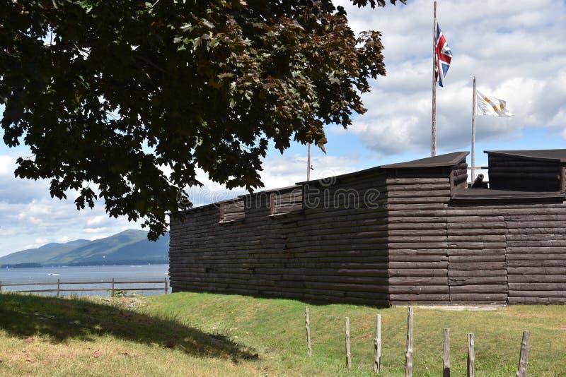 Οχυρό William Henry στη λίμνη George, Νέα Υόρκη στοκ φωτογραφίες με δικαίωμα ελεύθερης χρήσης