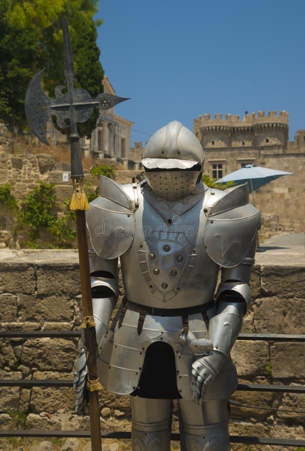 Οχυρώσεις και battlements της μεσαιωνικής πόλης, Ρόδος στοκ εικόνες