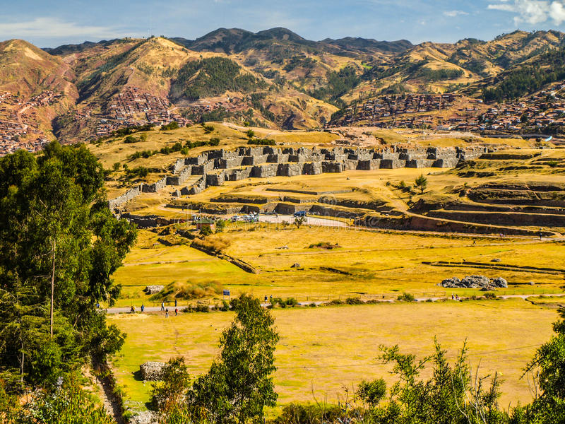 Οχύρωση Sacsayhuaman στοκ φωτογραφία