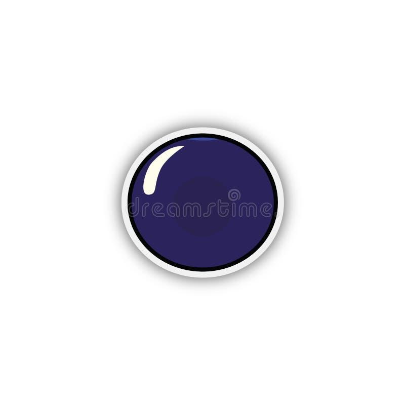 Ο άγριος Μαύρος αυτοκόλλητων ετικεττών σταφίδων μούρων Διάνυσμα, esp10 διανυσματική απεικόνιση