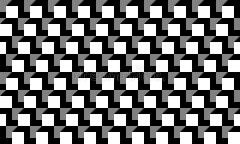Ο άνευ ραφής κυβικός γεωμετρικός γκριζόλευκος Μαύρος καμία διανυσματική απεικόνιση σχεδίων γραμμών ελεύθερη απεικόνιση δικαιώματος