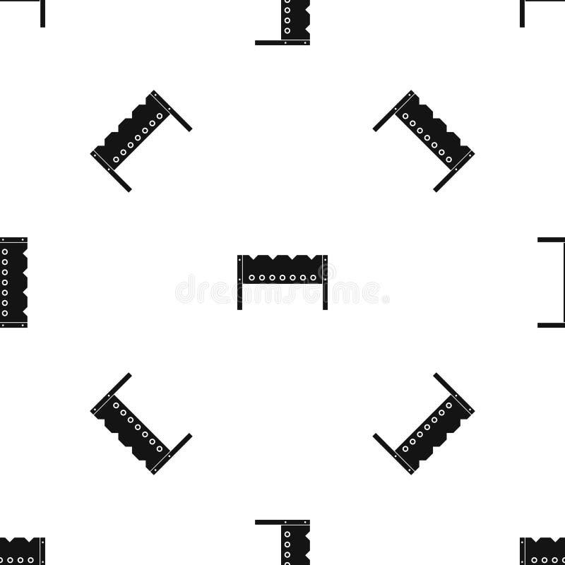 Ο άνευ ραφής Μαύρος σχεδίων ορειχαλκουργών απεικόνιση αποθεμάτων