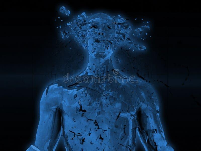 Ο άνθρωπος εκρήγνυται απεικόνιση αποθεμάτων