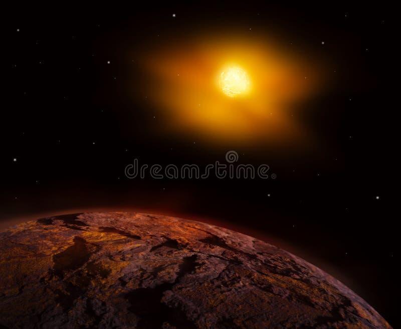 Ο Άρης είναι ένας μεγάλος βράχος με τη λεπτή ατμόσφαιρα απεικόνιση αποθεμάτων