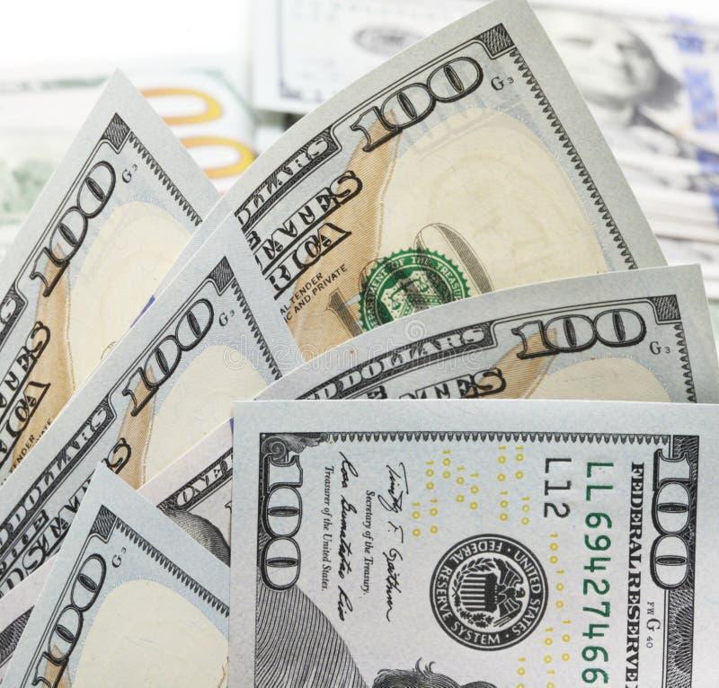 δολάρια λογαριασμών εκατό ένα στοκ φωτογραφίες
